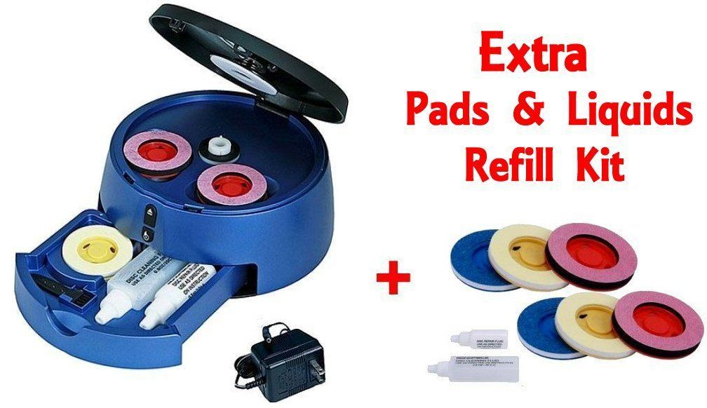 Disc Repair and Disc Cleaning: Dvd Cd Blu-Ray Ps4 Xbox Game Wii Disc Scratch Cleaner Repair Machine + Extra Kit -> BUY IT NOW ONLY: $34.75 on eBay!