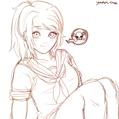 Crapy yandere chan doodle yandere yandere simulator for Yandere simulator coloring pages
