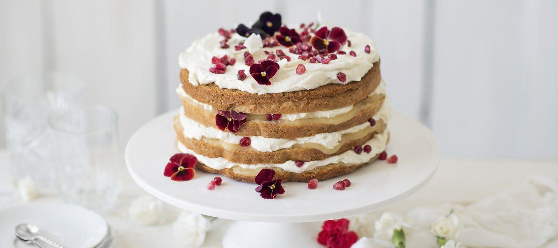 Omena-vanilja naked cake