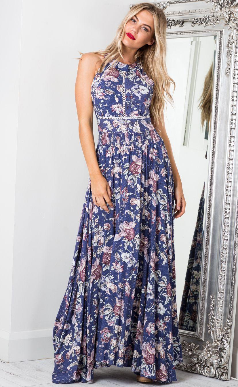 c742afd56f5f Run Alone Maxi Dress In Indigo Floral Produced   r de casa   Dresses ...