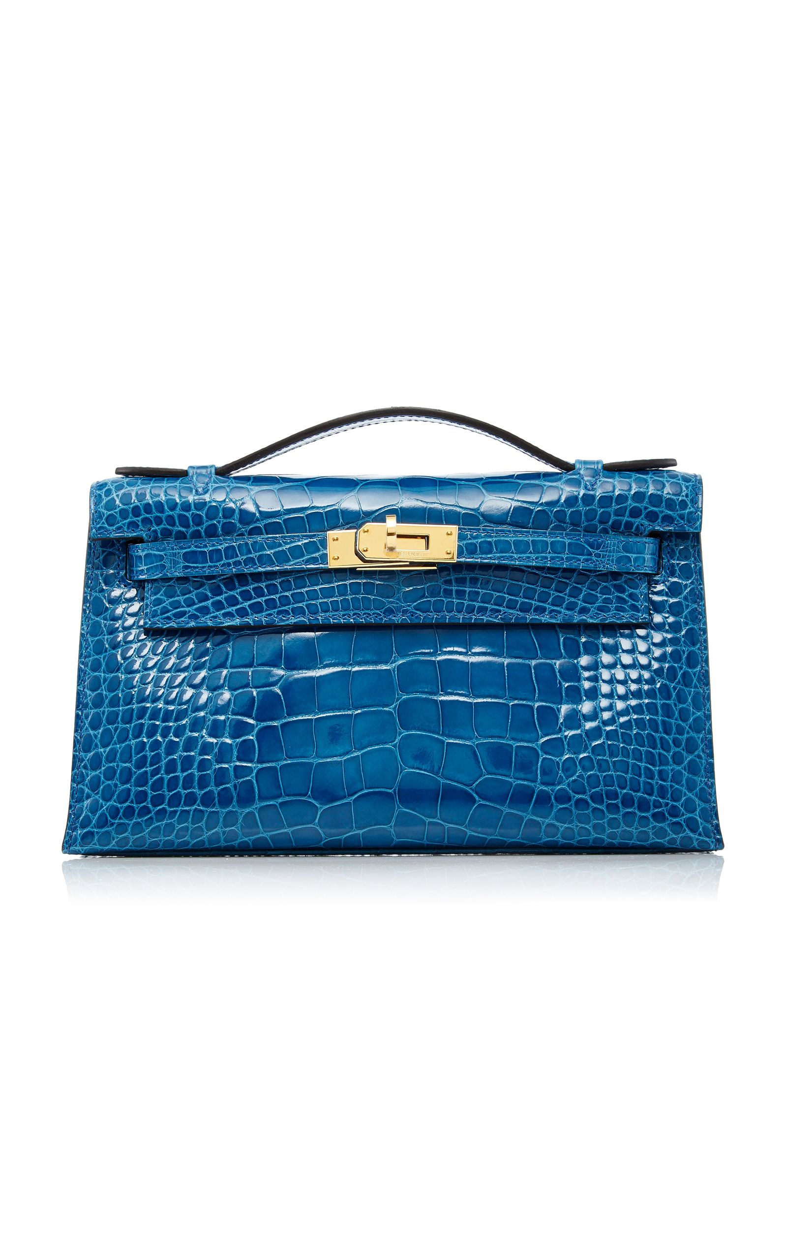 Hermès Mykonos Shiny Alligator Kelly Pochette by HERITAGE AUCTIONS SPECIAL  COLLECTIONS for Preorder on Moda Operandi 83d80e330c