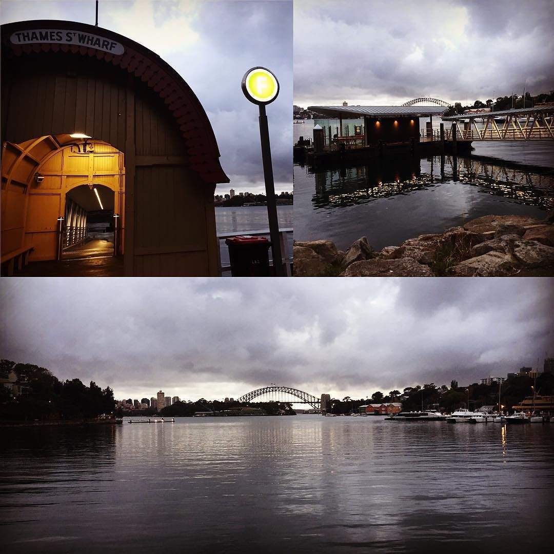 Morning people. There's a smell of possibility and change  in the air. Must be the pending rain. #sydney #sydneyharbourbridge #balmain by daelevine http://ift.tt/1NRMbNv