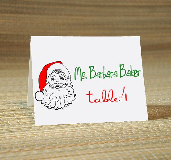 Christmas Santa ClausCalligraphy for Place Card Escort by ilulily