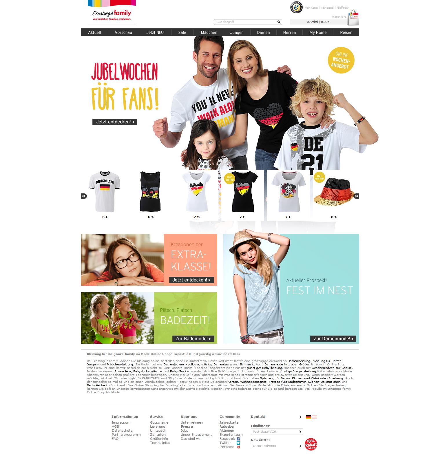 #Webshop von #ernstingsfamily auf Basis von # ...