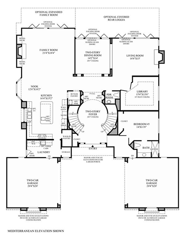 Toll Brothers At Amalfi Hills Positano Collection Luxury New Homes In Yorba Linda Ca Courtyard House Plans Floor Plans Modern House Plans