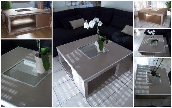 Les Cartons De Corinne Meubles En Carton Cardboard Furniture Dyi Furniture Coffee Table