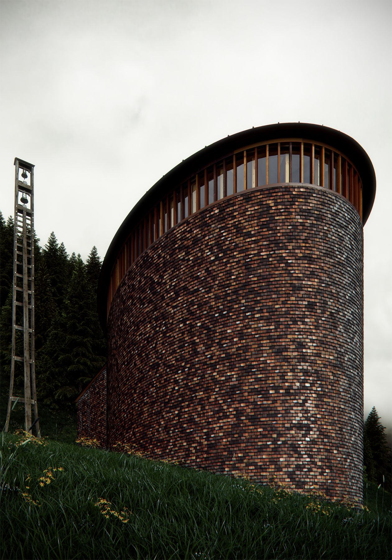 Caplutta Sogn Benedetg Ronen Bekerman 3D Architectural