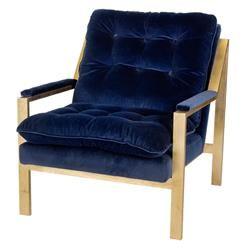 Best Boyd B Mid Century Curved Gold Blue Velvet Armchair Blue 400 x 300