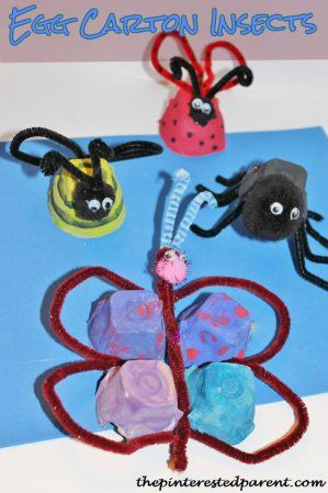 Egg Carton Insects craft