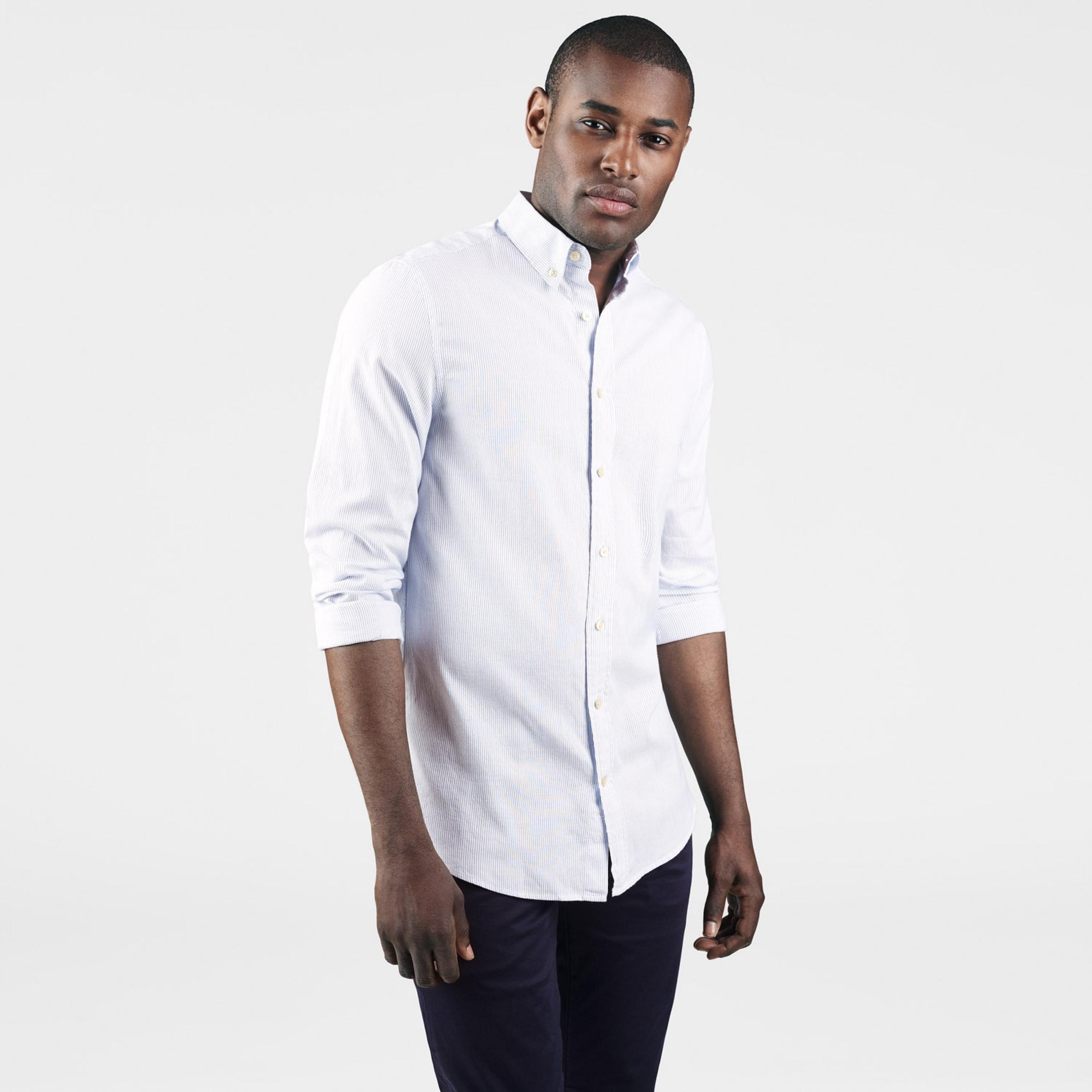 a147624e1f GANT: White Windblown Oxford Stripe Shirt men | GANT USA Store