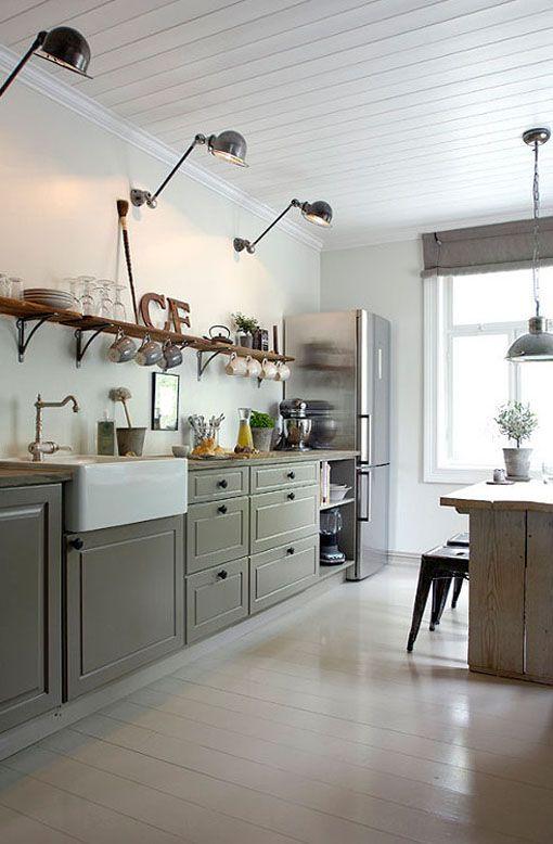 Cocina de estilo rústico renovado, fantástica!!! #cocinas #muebles ...