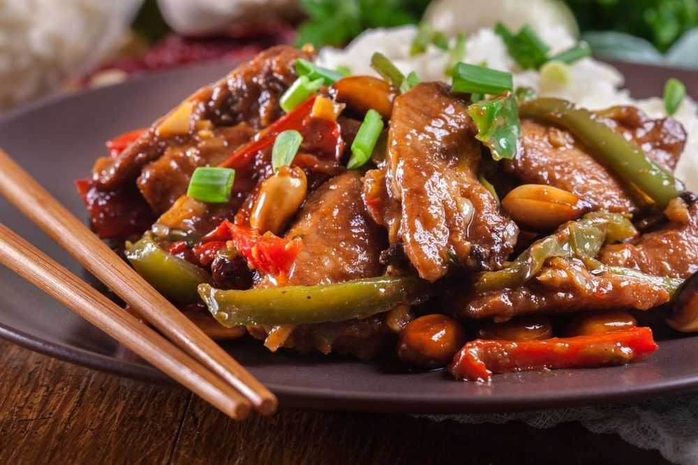Szechuan Chicken Best Szechuan Chicken Chinese Takeout Recipe In 2020 Healthy Chicken Recipes Recipes Healthy Comfort Food