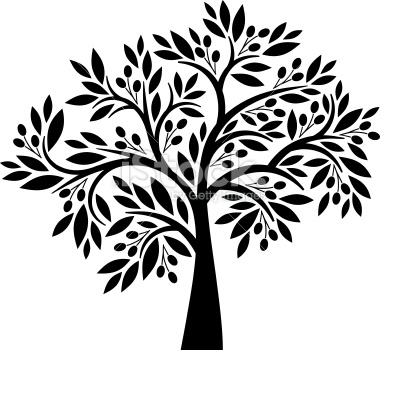 Olive Tree W Possible Split Trunk Http Www Istockphoto Com Stock Illustration 19515553 Olive Tree Php Olive Tree Tattoos Tree Stencil Olive Tree