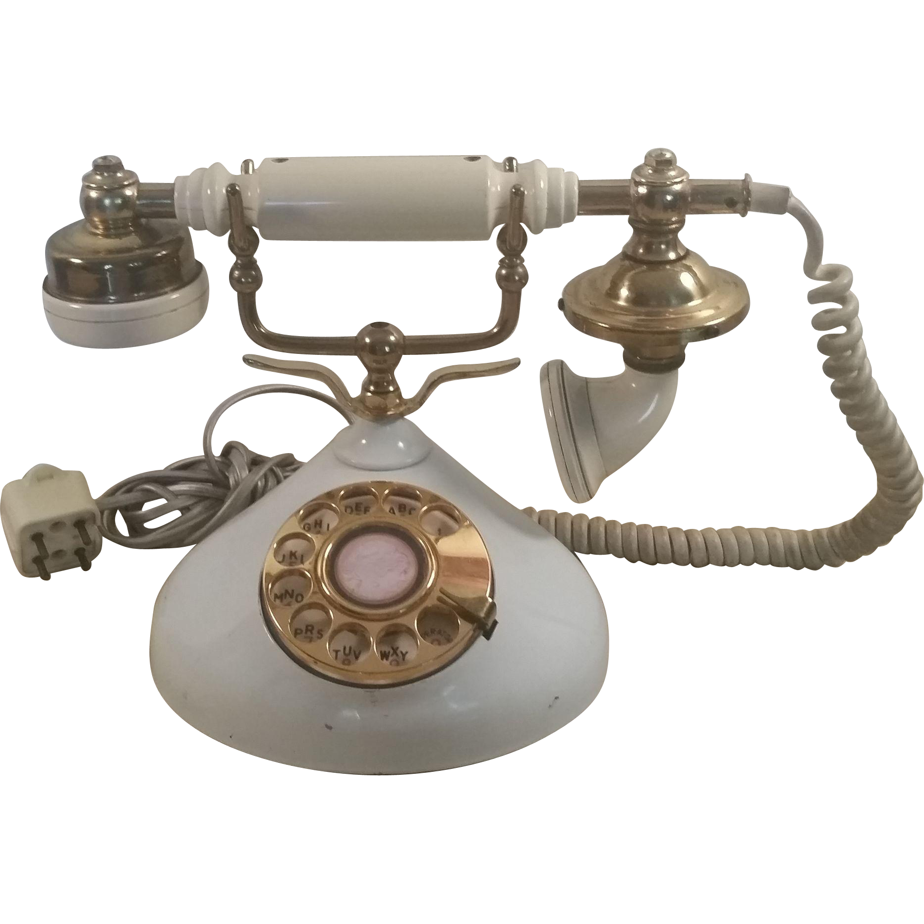 1970's Brass Plated Decorative Telephone Shop the Ruby Red Tag 30% Off Sale - Starts July 19th at 8am PST - PREVIEW Items now. www.rubylane.com @rubylanecom #rubyredtagsale #vintagebeginshere