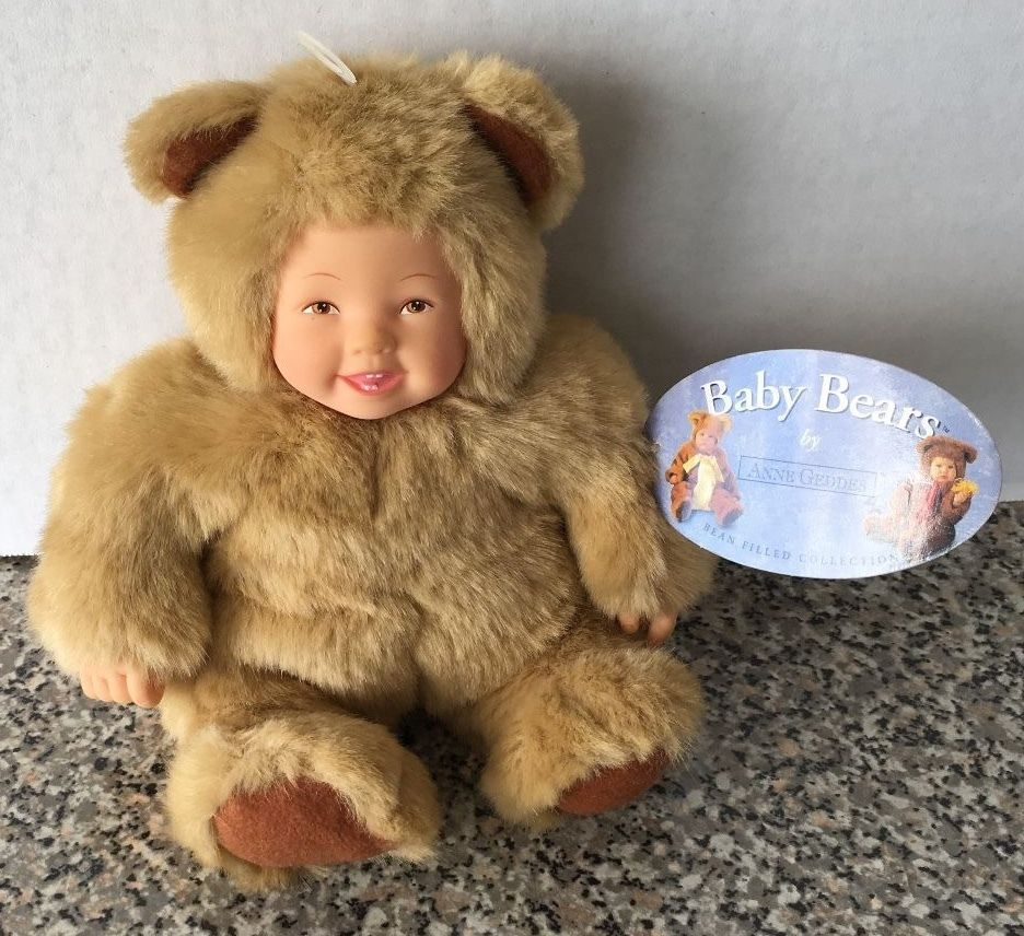 Art Dolls-ooak Dolls Anne Geddes Baby Brown Bear Pretty And Colorful
