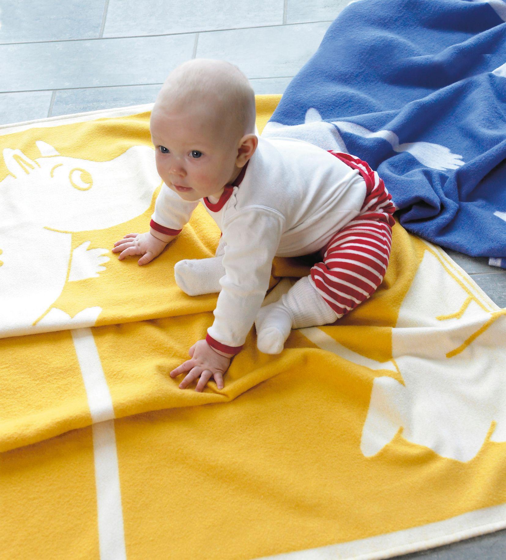MOOMIN organic cotton baby blanket YELLOW