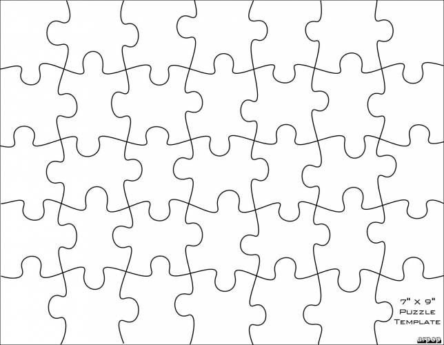 Blank Jigsaw Puzzle Template Printable pelipohjia – Blank Puzzle Template