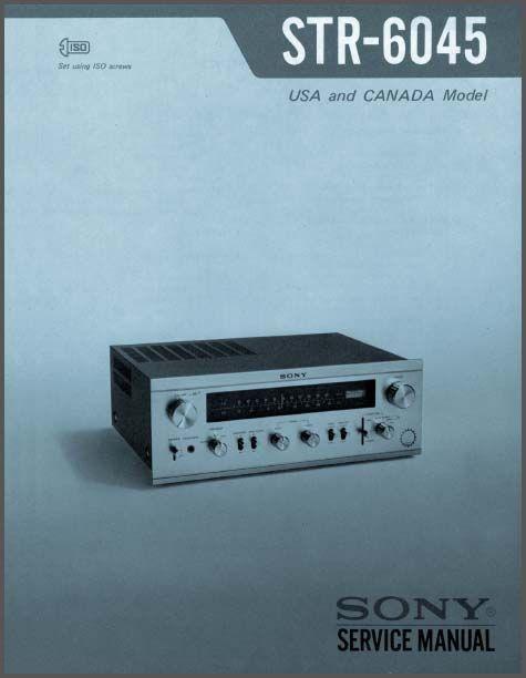 sony equipment manuals