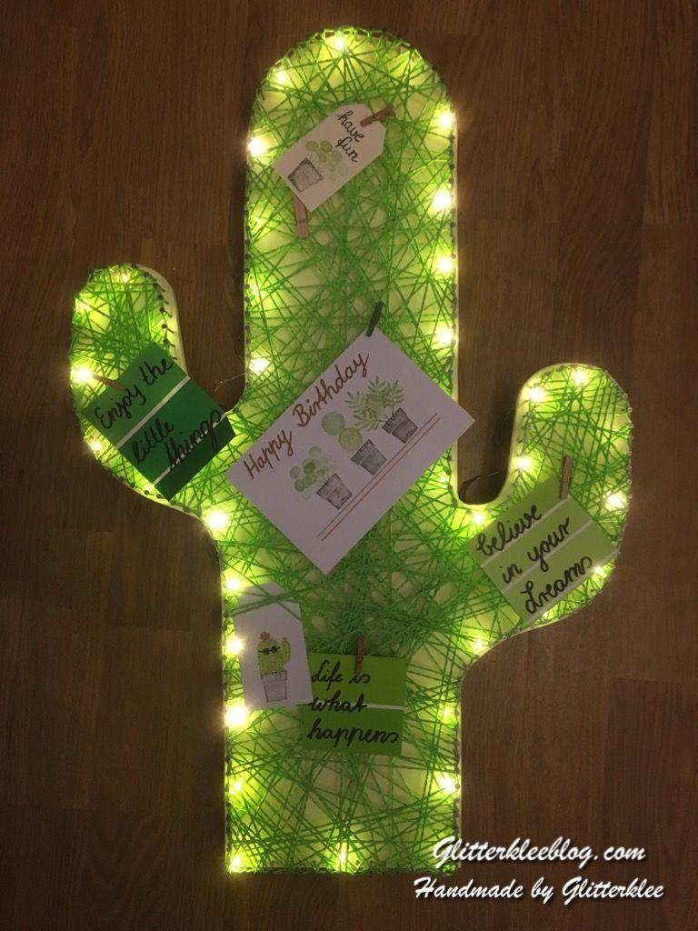 Diy Kaktus Lampe In 2020 Cactus Diy Cactus Lamp Diy Easter Gifts