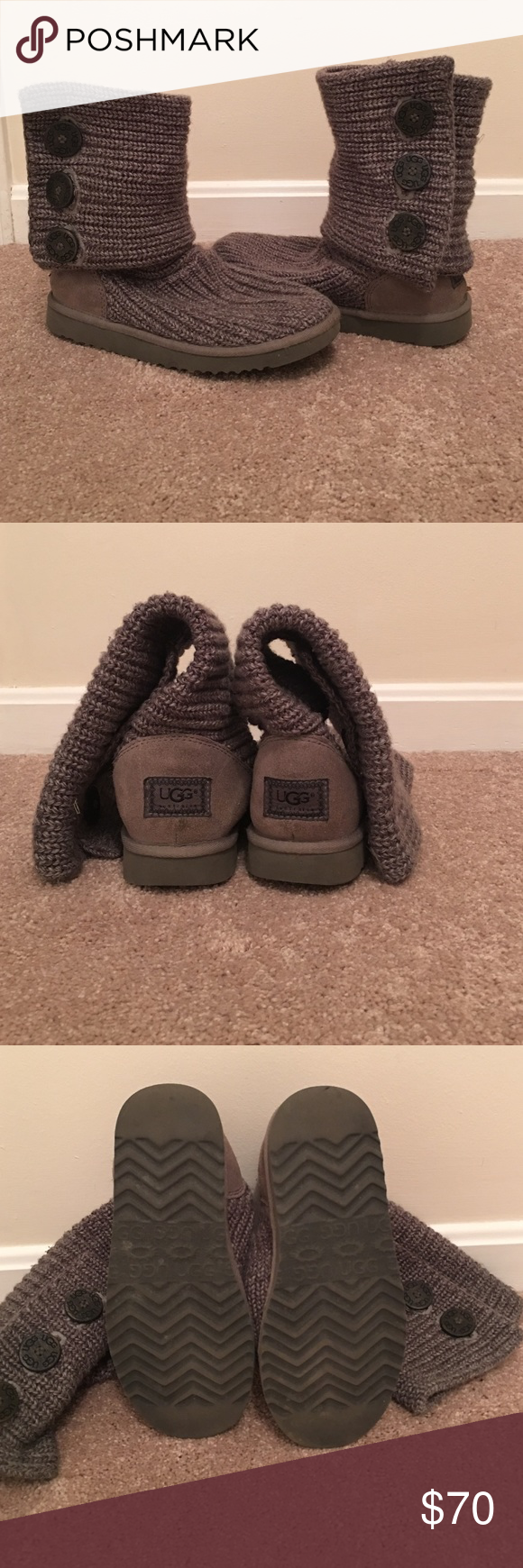 Gray cardy UGG boots. Gray cardy UGG boots. Super comfy and great for colder weather. UGG Shoes Winter & Rain Boots