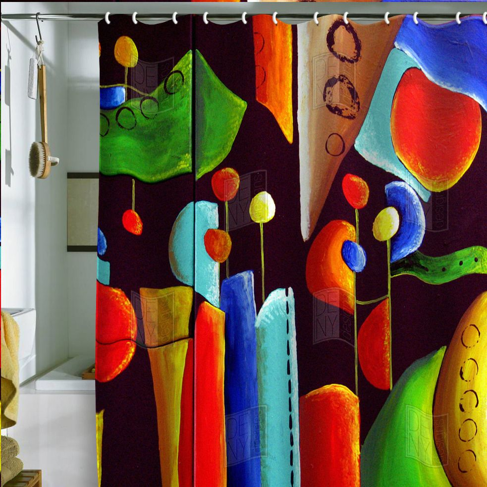Renie Britenbucher Funky Abstract Shower Curtain