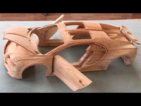 Wood Carving - Bugatti Chiron - Wood Art