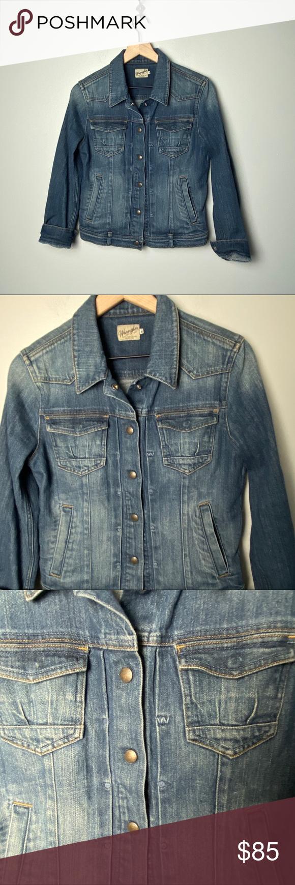 Wrangler Special Edition Premium Jean Jacket In M Wrangler Premium Jean Jacket Special Edition Throwb Premium Jeans Vintage Denim Jacket Vintage Wrangler Jeans [ 1740 x 580 Pixel ]