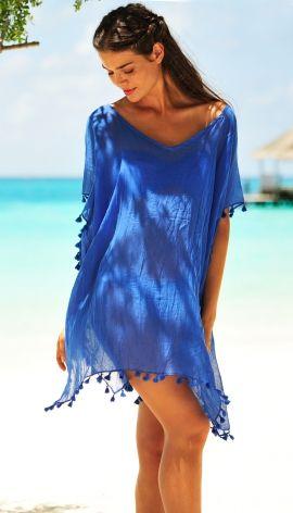 Seafolly Amnesia Kaftan Beach Cover Up In Indigo Blue Designer Women S Swimwear And Beachwear For Women At Its Bes Beachwear For Women Beachwear Beach Dresses