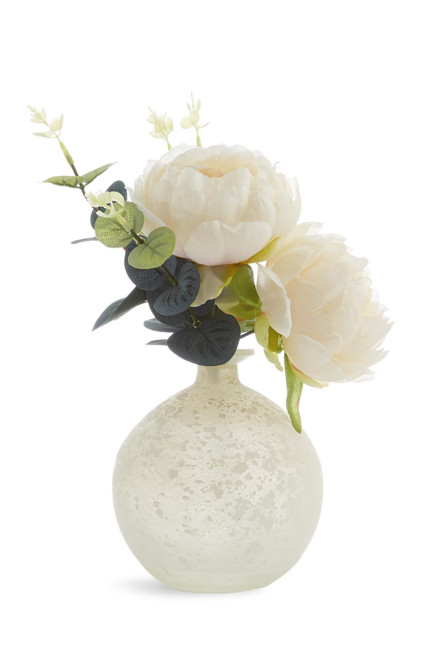 Frosted Globe Faux Flower Accessories Homeware