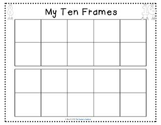 image about Tens Frames Printable titled tens frames toward print-laminate, adhere in just math folder and employ