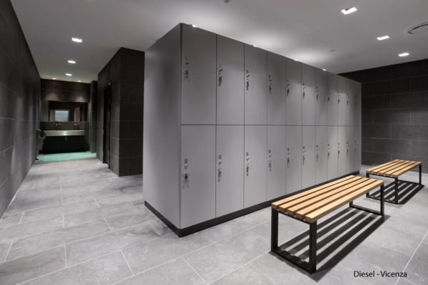 Fashion Company Diesel Commissioned BizInteriors To Design Its Employee Locker Room In Vicenza