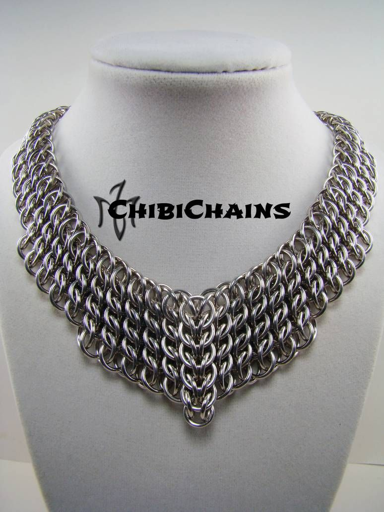 Earrings Not Tao 3 By Chibichains On Deviantart Chainmail Necklace Chainmail Jewelry Chain Maille Jewelry