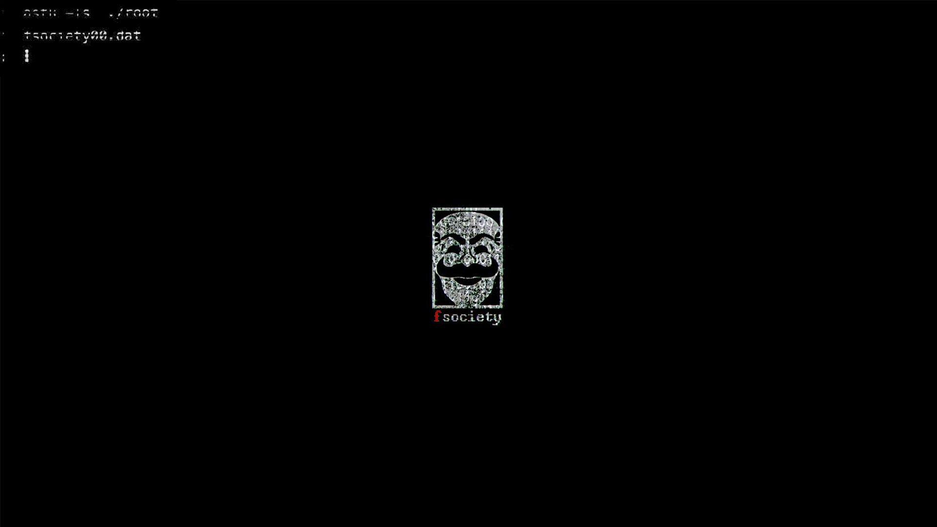 Hacking Fsociety Mr Robot 1080p Wallpaper Hdwallpaper Desktop Chernyj Fon Oboi Fony Oboi