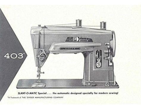 singer 403 slant o matic sewing machine manual pinterest vintage rh pinterest com Singer Featherweight Cabinet singer featherweight model 100 user manual