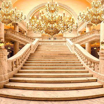 Painel Tecido Sublimado 3d Escadaria Realeza 3,00m X 2,00m no Elo7 | Sublime Sonhos (CF3F27)