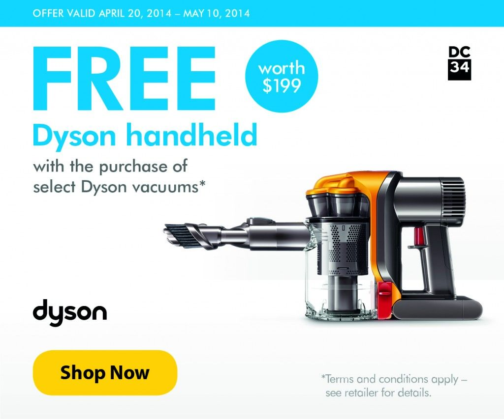Dyson Freebie With Purchase 199 Dc34 Handheld With Animal Purchase Dyson Handheld Vacuum Dyson Vacuums Dyson