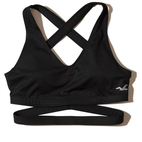 c27f1730ec4c6 Hollister Cali Sport Wrap Sports Bra ( 20) ❤ liked on Polyvore featuring  activewear