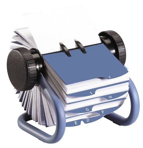 Rolodex Metal Rotary Business Card File Includes 200 2 5 8 X 4 Inches Sleeved Cards Blue 63299 Rolodex Card Files Business Card Sleeve