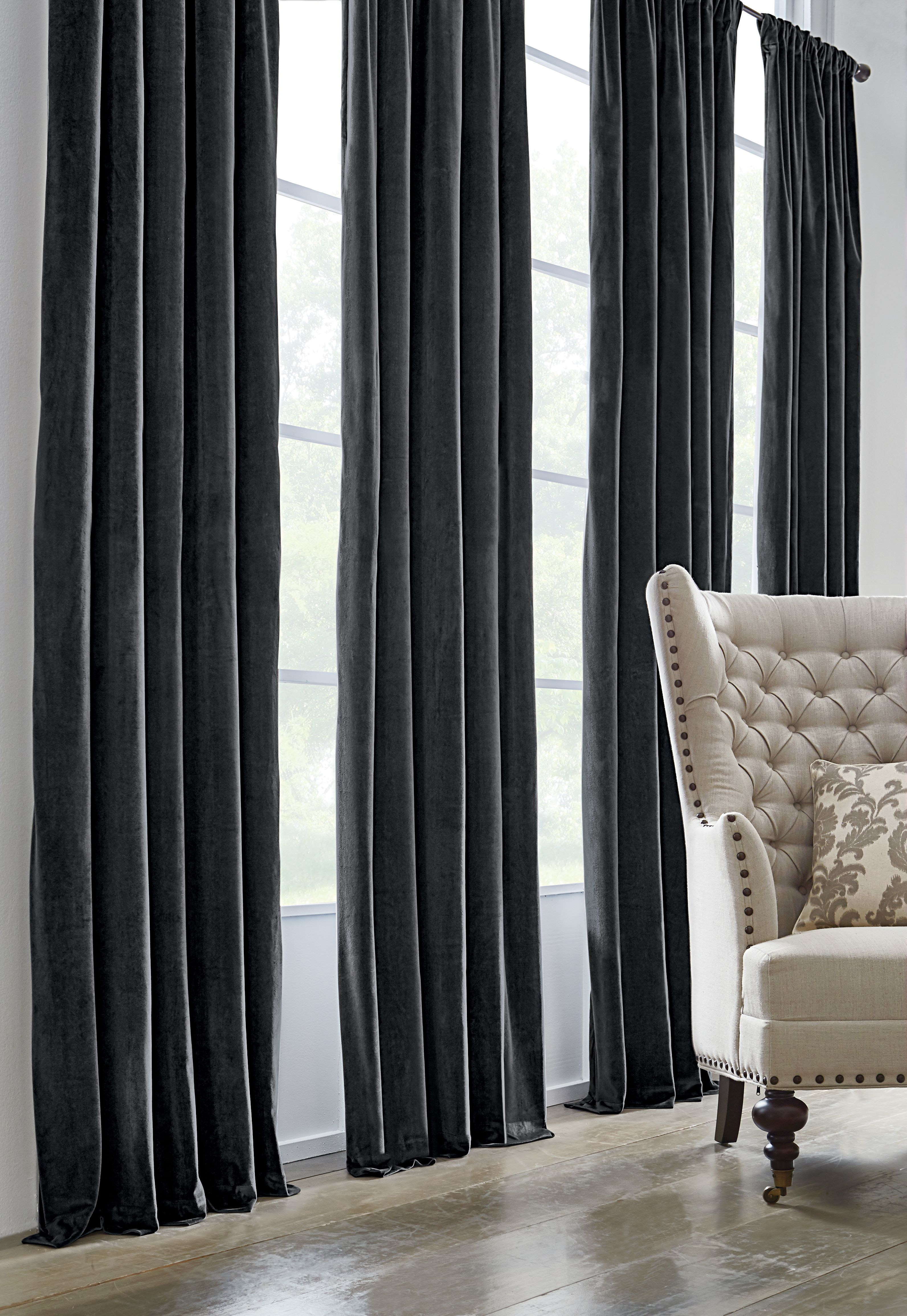 ideas design curtains uk curtain velvet black home