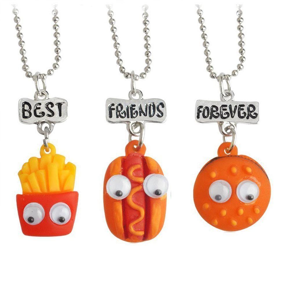 Pcsset cookie and coffee best friend necklace miniature pendant