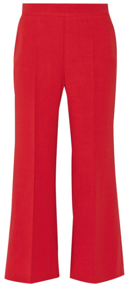 pantalon évasé 7 8 en lain rouge, fendi   vetement   Pinterest ... d93230aa9ef
