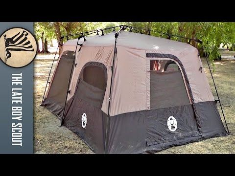 3f9a5ddd3f Coleman 8 Person Instant Tent Review (14'x10') - YouTube | Pop-up ...
