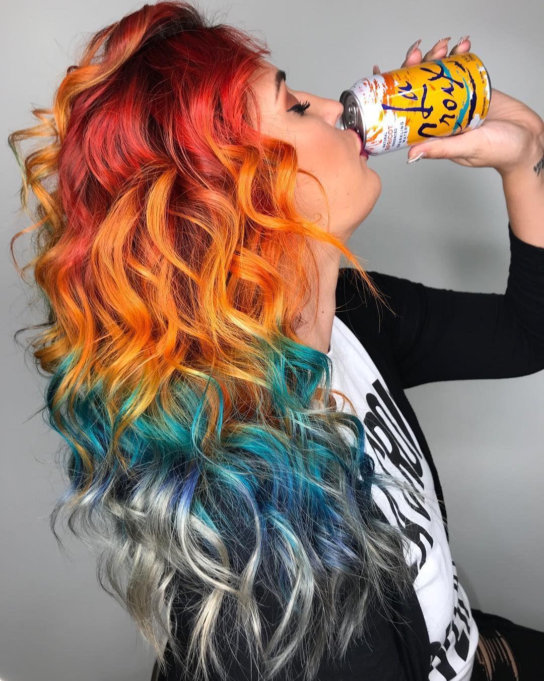 Gökkuşağı Renkli Saç Renkleri Ve Trendleri 2017