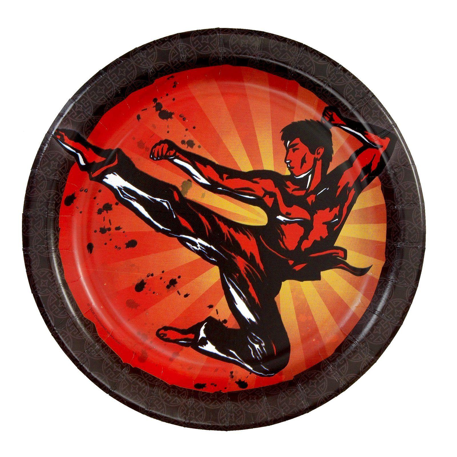 Martial Arts Dessert Plates, 50931