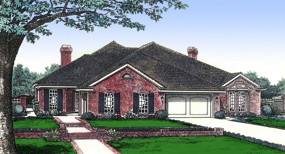 Plan 48272FM Elegant Traditional Duplex in 2020