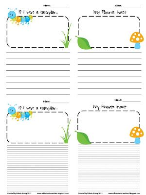 Insects Writing Prompts | Classroom Freebies! | Kindergarten