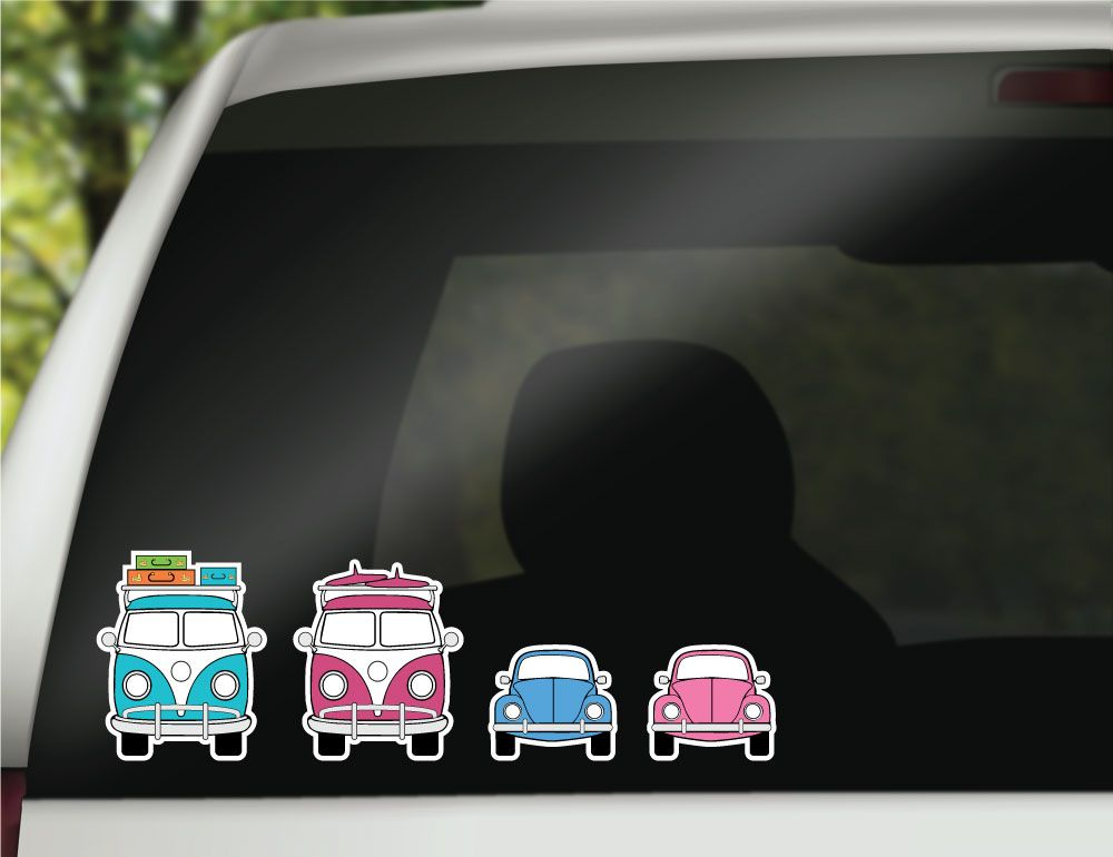 Create your own travel van family vinyl decal family car decals and stickers computer notebook decals and stickers beach life surf bus