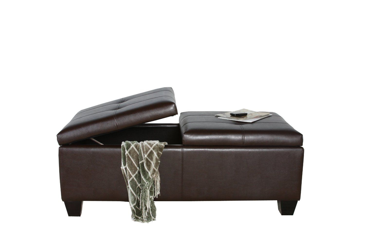Amazon.com: Best Selling Alfred Brown Leather Storage Ottoman: Kitchen &  Dining | FL Addition | Pinterest - Amazon.com: Best Selling Alfred Brown Leather Storage Ottoman