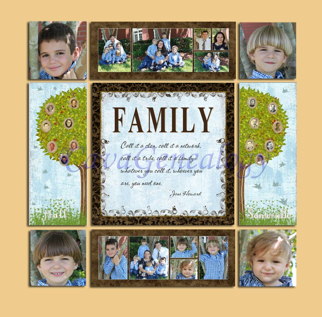 Preserving Heritage: Family tree canvas collage | Scrappy9 | Pinterest