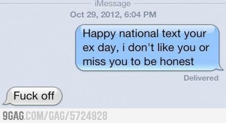 When is national text your ex day